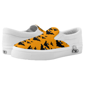 Cool cute Flying bats Halloween pattern Slip-On Sneakers
