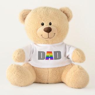 Cool Cute Gay Pride Flag Bear paw daddy bear