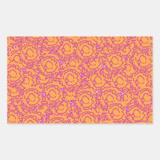 Cool cute girly swirls pink and orange SWIRLS08 Sticker