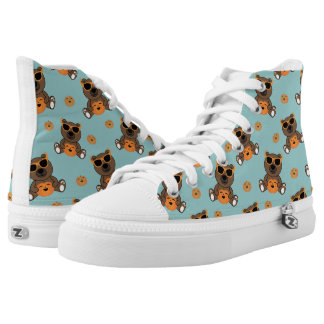 Cool cute Halloween bear and pumpkin pattern High Tops