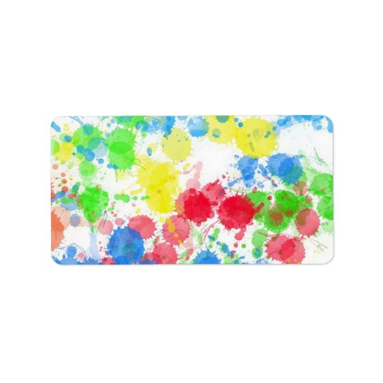 Cool cute  trendy colourful splatters watercolours