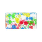 Cool cute  trendy colourful splatters watercolours label