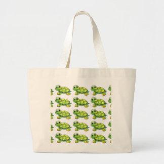 Cool Cute Turtle Large Tote Bag