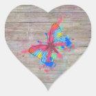 Cool cute watercolours splatters vintage butterfly heart sticker