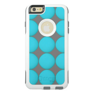 Cool Cyan Light Blue Dots OtterBox iPhone 6/6s Plus Case