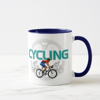 Cool Cycling Design On Ringer Mug