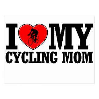 cool Cycling  mom designs Postcard