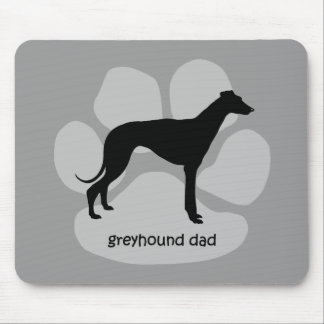 Cool dad greyhound mouse pad