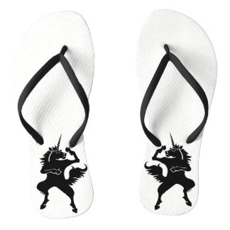 Cool dancing unicorn flip flops