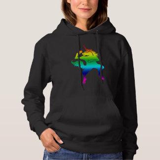 Cool dancing unicorn hoodie