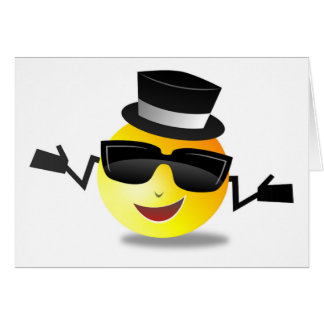 COOL DAPPER SMILEY CARD