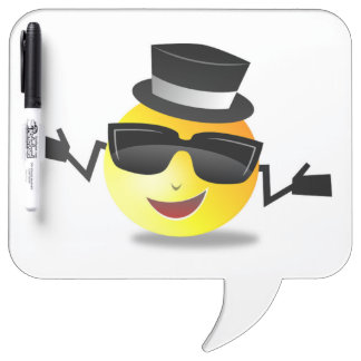 COOL DAPPER SMILEY DRY ERASE BOARD