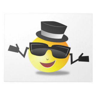 COOL DAPPER SMILEY NOTEPAD