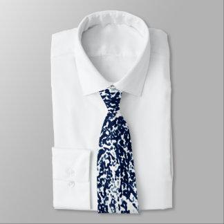 Cool Dark Blue Abstract Pattern Tie