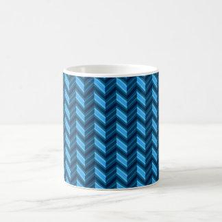 Cool Dark Blue Chevron Coffee Mug
