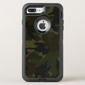 Cool Dark Green Camo Camouflage Pattern Rugged OtterBox Defender iPhone 7 Plus Case