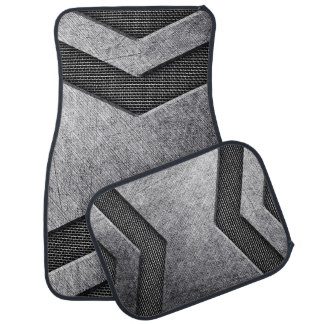 Cool Dark Metal with Mesh Look Car Mat
