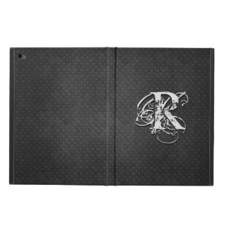 Cool Dark Metallic Whimsical Monogram Personalized Powis iPad Air 2 Case