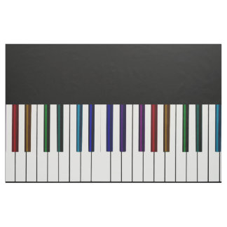 Cool Dark Psychedelic Piano Keys Fabric