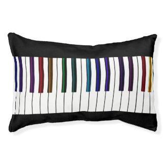 Cool Dark Psychedelic Piano Keys Pet Bed