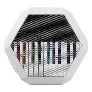 Cool Dark Psychedelic Piano Keys White Bluetooth Speaker