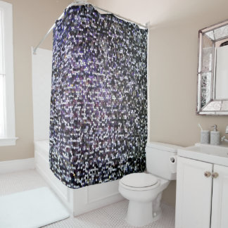 Cool Dark Silver Stained Glass Mosaic Pattern