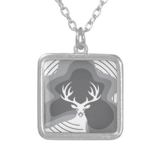 Cool Deer Design Silver Plated Necklace