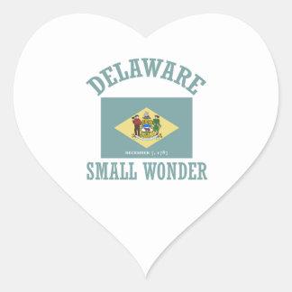 cool Delaware design Heart Sticker