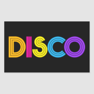 Cool Disco music word art sticker