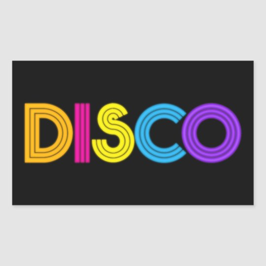 Cool Disco Music Word Art Sticker Zazzleca