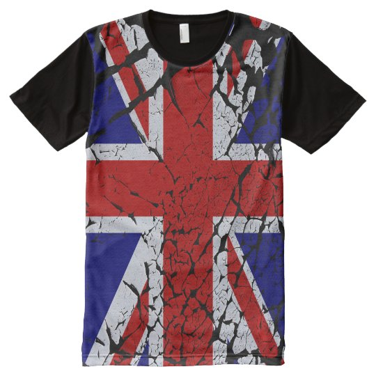 Cool Distorted Union Jack Flag of the UK All-Over-Print T-Shirt