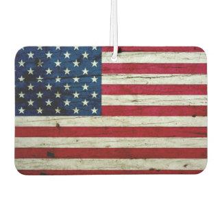 Cool Distressed American Flag Wood Rustic Air Freshener