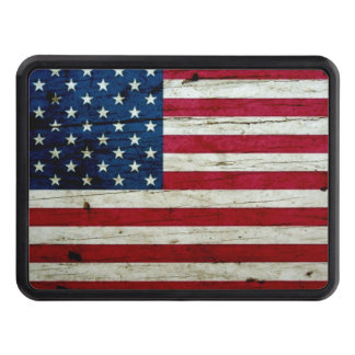 Cool Distressed American Flag Wood Rustic Trailer Hitch Cover