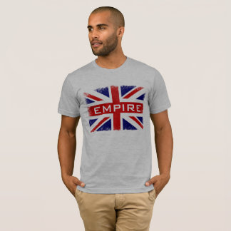 Cool Distressed U.K Flag Empire Trendy Union Jack T-Shirt