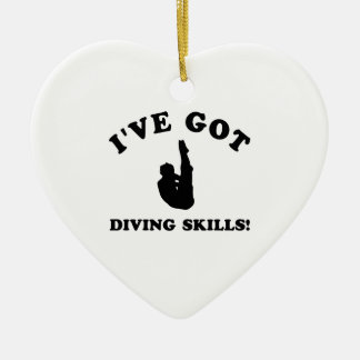 cool diving designs ceramic ornament