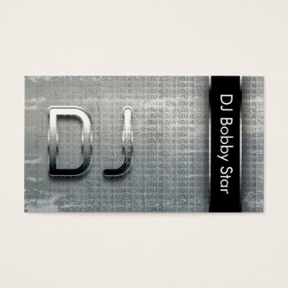 Cool dj metalic business card