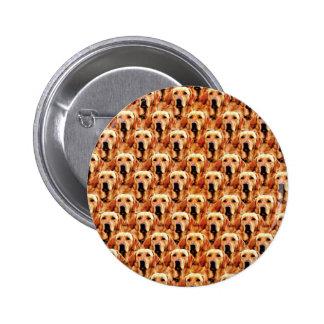Cool Dog Art Doggie Golden Retriever Abstract 2 Inch Round Button