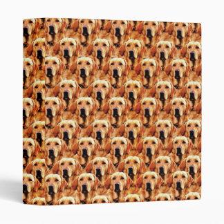 Cool Dog Art Doggie Golden Retriever Abstract Binders