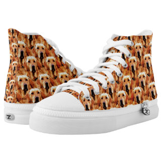 Cool Dog Art Doggie Golden Retriever Abstract High Tops