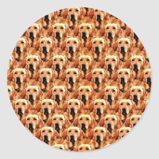 Cool Dog Art Doggie Golden Retriever Abstract Round Sticker