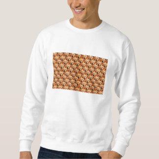 Cool Dog Art Doggie Golden Retriever Abstract Sweatshirt