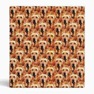 Cool Dog Art Doggie Golden Retriever Abstract Vinyl Binder