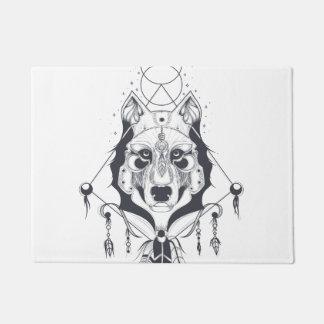 cool dog design art doormat