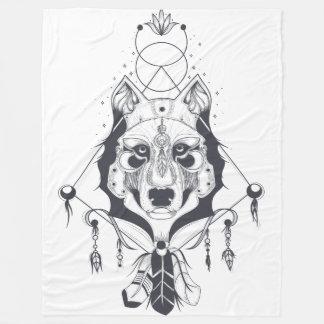 cool dog design art fleece blanket