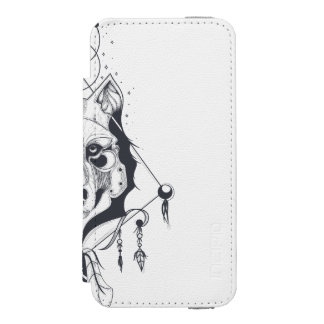 cool dog design art incipio watson™ iPhone 5 wallet case