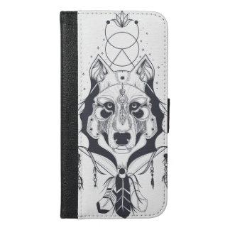 cool dog design art iPhone 6/6s plus wallet case