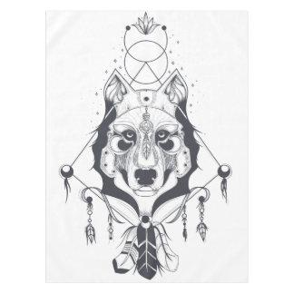 cool dog design art tablecloth