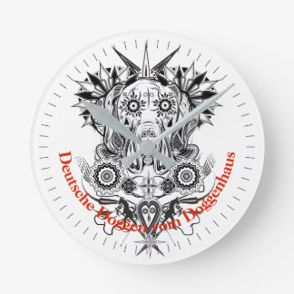 Cool Dogge with individual label Round Clock
