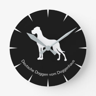 Cool Doggenuhr with individual label Round Clock