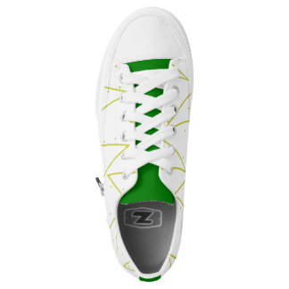 Cool Dots Lines Green Sneaker Shoes